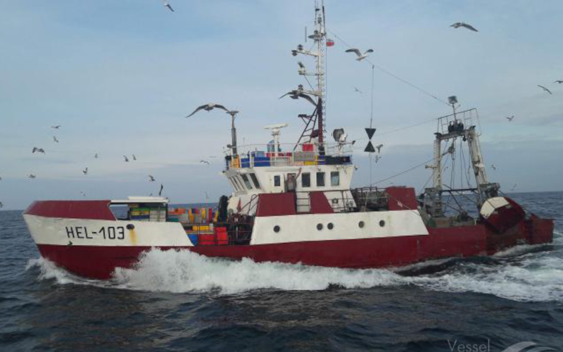 Recovery of the fishing vessel HEL-103