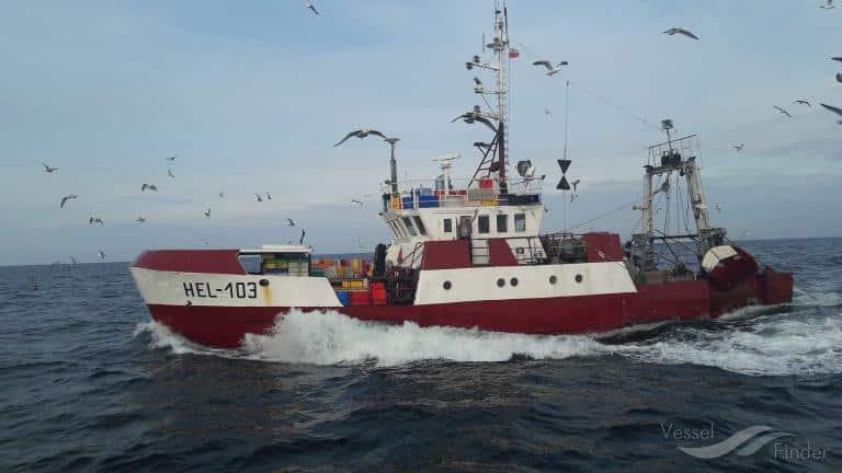 Berging van vissersboot Hel – 103